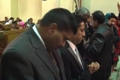 Praying  in   a  Pakistani  Church -Antwerp   Belgium