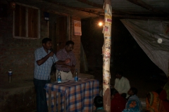Small  Rural Tent  Gospel Meeting In  India