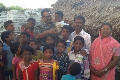 With our orphan children  in  India